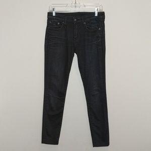 R13 Skinny Jeans in dark wash